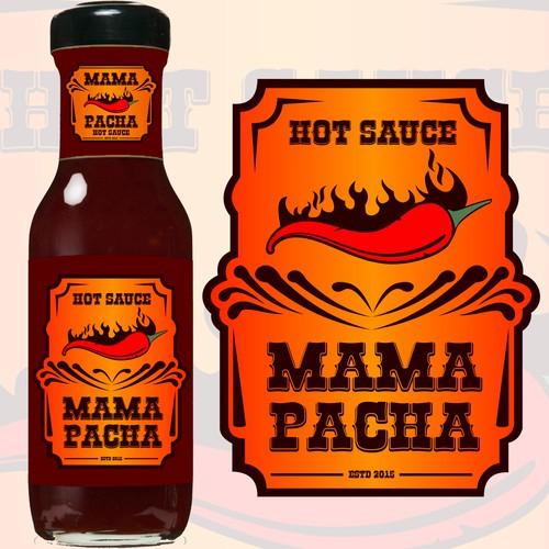 Graphic sauce for restaurant logo