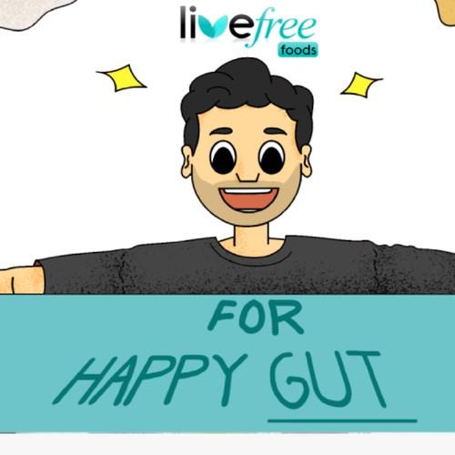 Live free food Website banner