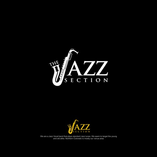 Exciting and classy logo for a standard Jazz vocal group.