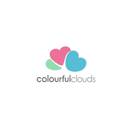 logo concept for colourful clouds