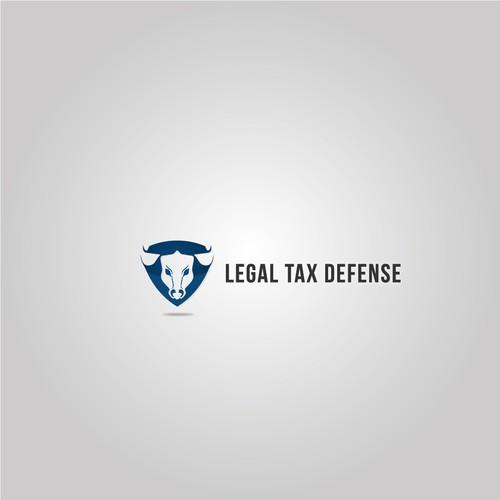 Shield logo with bull head