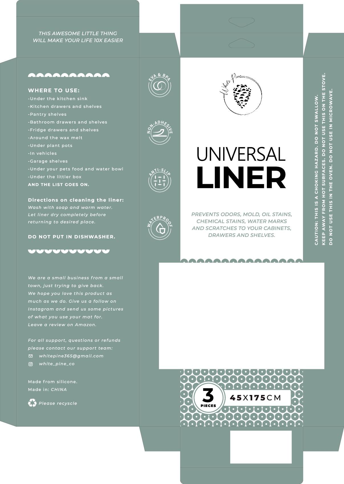Packaging for universal kitchen mat