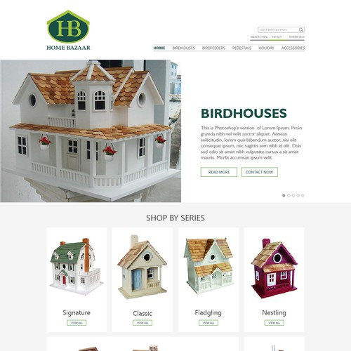 New website for Home Bazaar Inc,