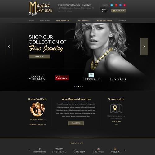 Create a winning website for Mayfair Money Loan.