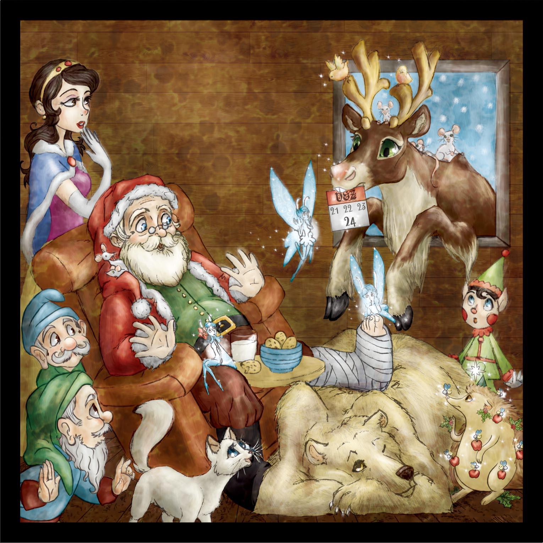 Eine Illustration/Grafik für Kinder-Weihnachts-CD (betrifft nur das Frontbild) / One illustration for Kids-Christmas CD