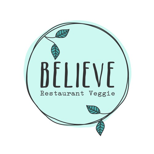 Logo design for a vegetarian restaurant