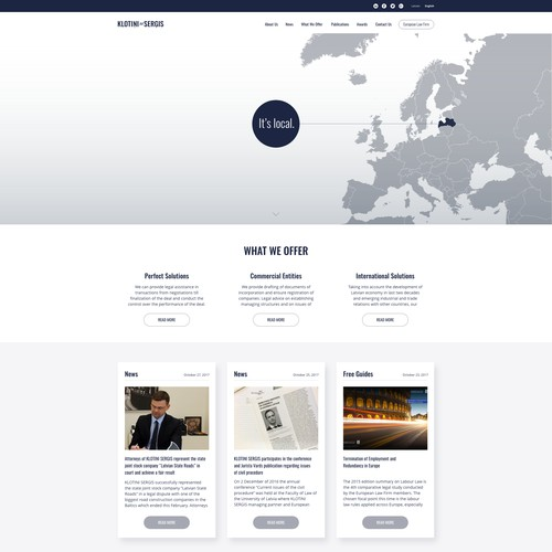 KlotiniSergis law firm website design