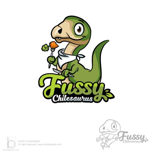 Logo Design for Fussy Chilesaurus