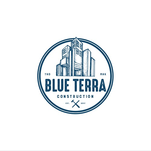 Blue Terrra Construction Logo