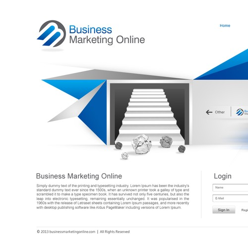 New website design wanted for BUSINESS MARKETING ONLINE