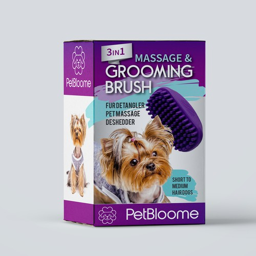 Product Packaging Entry for Dog Grooming Brush
