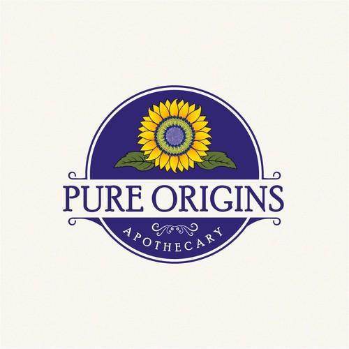 Design a healthy logo for Pure Origins Apothecary