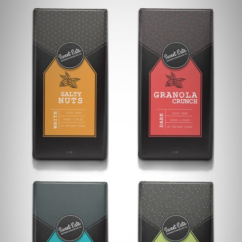 Packaging design for Sweet Eats Artisan Chocolate
