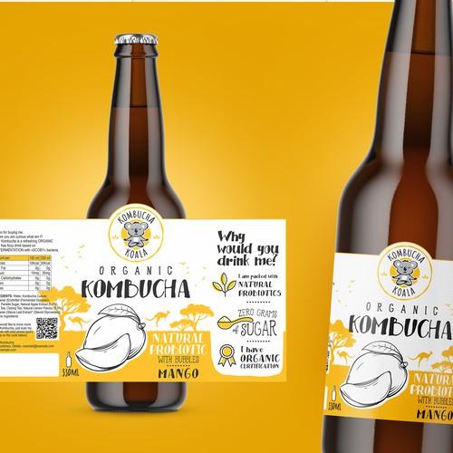 Labels Organic Kombucha
