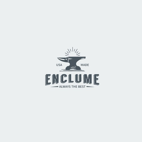 logo communicating fine craftmanship and tradition for Enclume