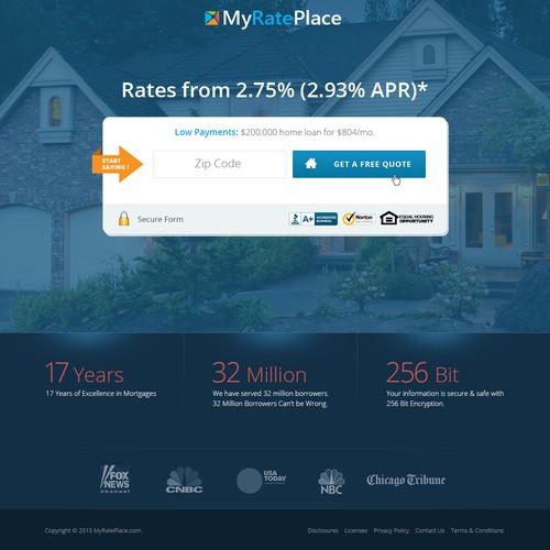MyRatePlace Landing Page