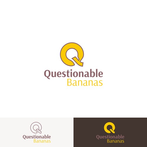 Q in banana for Questionable Bananas