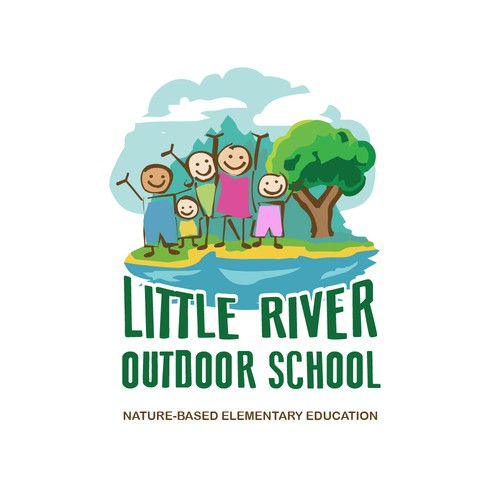 Outdoor kids school logo