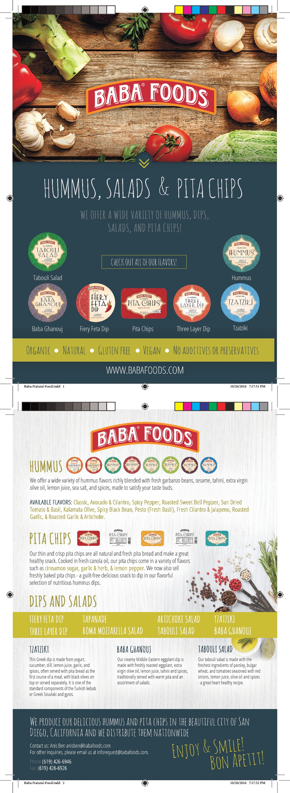 design a creative yet unique flyer that will be the hype for Baba foods