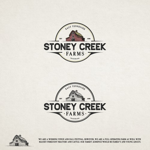 Vintage Logo for Stoney Creek Farms