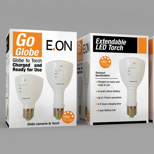 Create a unique 2-in-1 globe/torch label