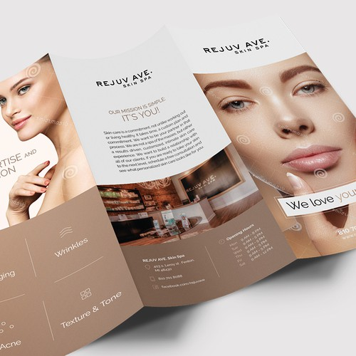 Modern Trifold Design for Luxury Spa