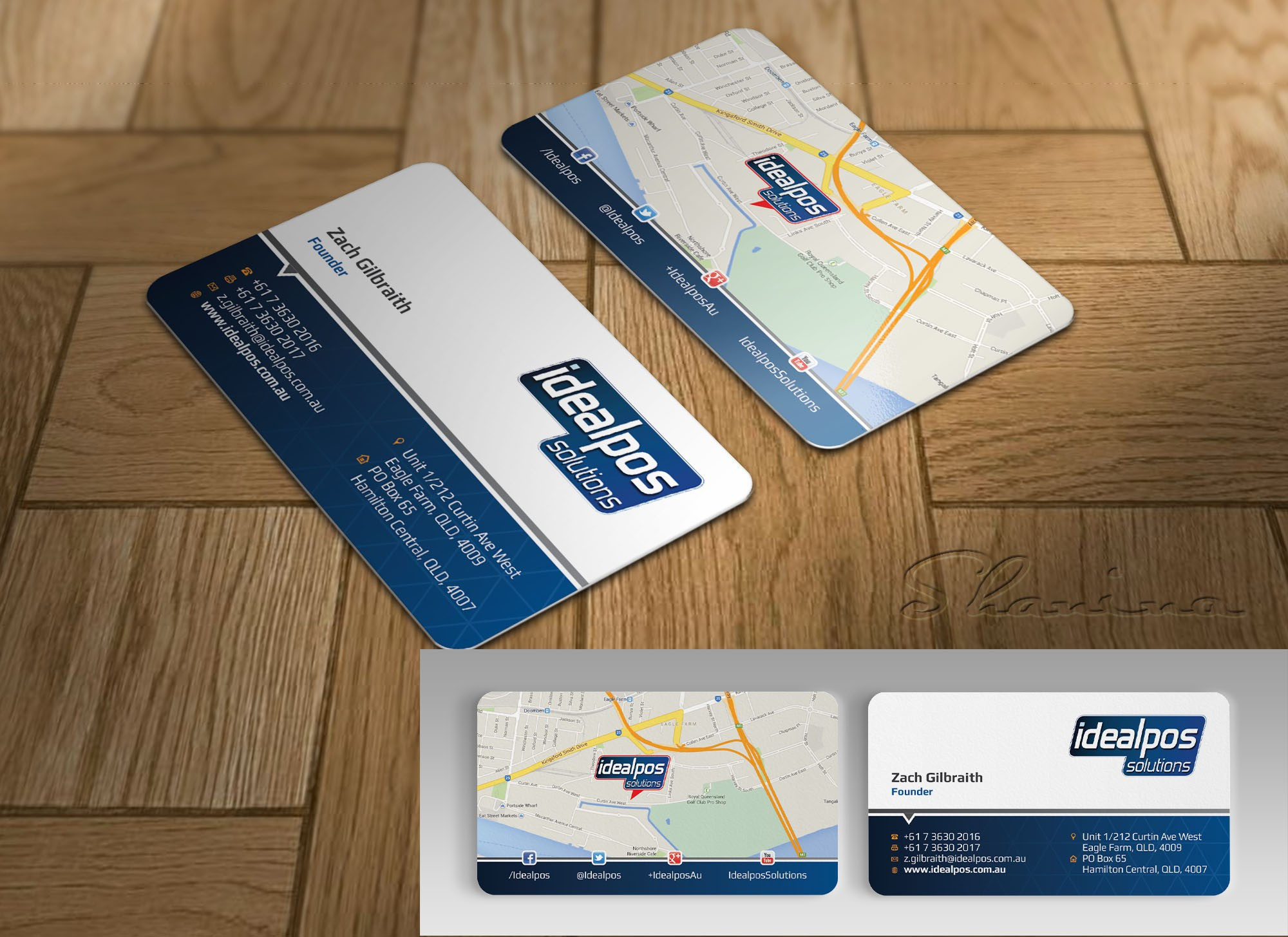 Design our new business cards for Ideapos Solutions