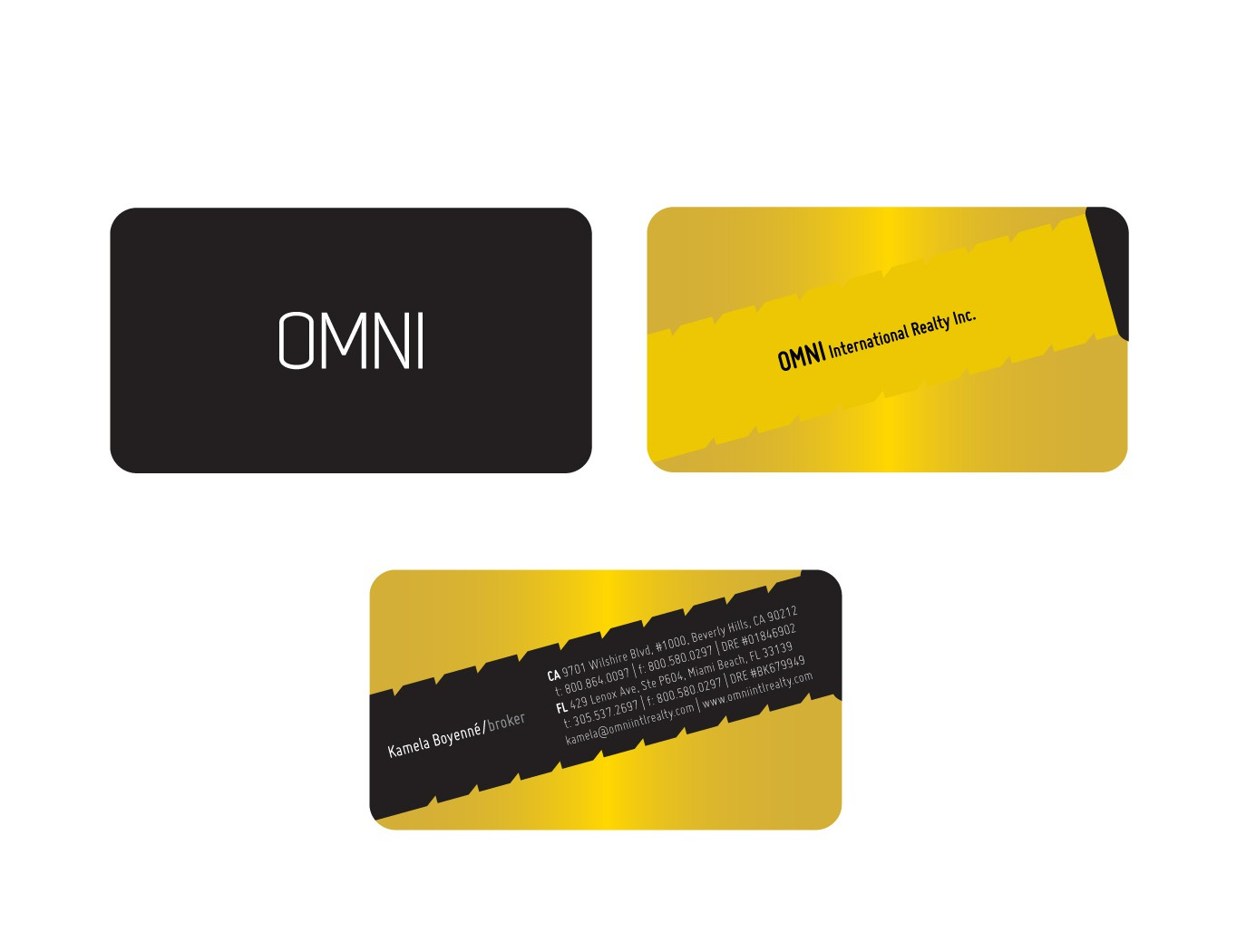 OMNI International Realty Inc. needs a new stationery
