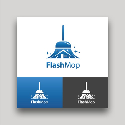 Logo for Cleaning App Called Flash Mop