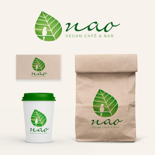 Nao Vegan Café & Bar Logo Concept
