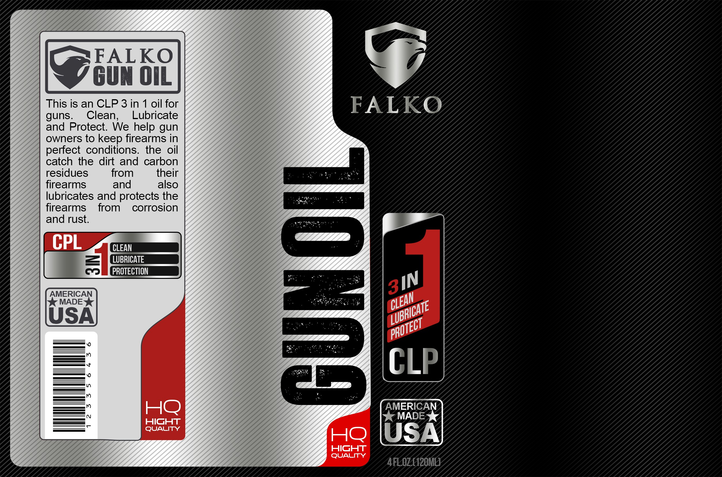 Tactical Brand needs a powerful label for their Oil Bottle!