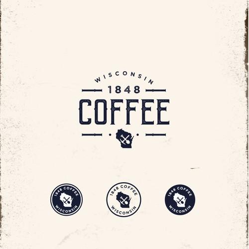 Logo Design for 1848 Coffee