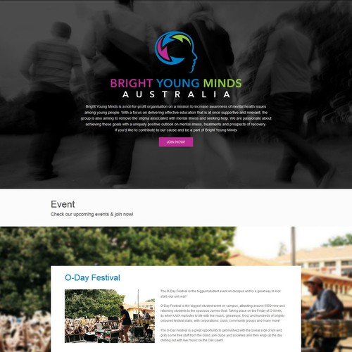 Longpage Website for Bright Young Minds Australia