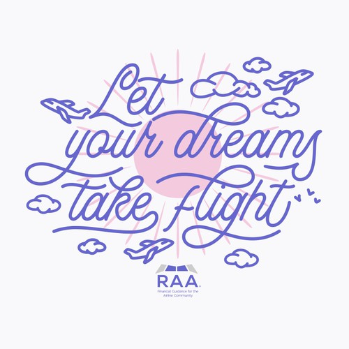RAA Financial Guidance for the Airline Community T-shirt Design