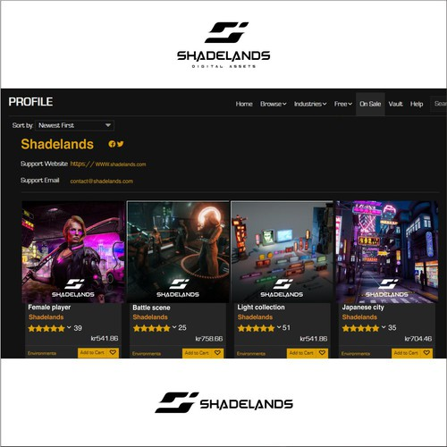 Design a memorable and eye-catching logo for a premium game development studio.