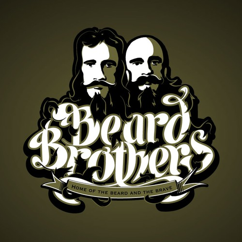 Create a recognizable logo for a tough guy style beard care company with a military flair.