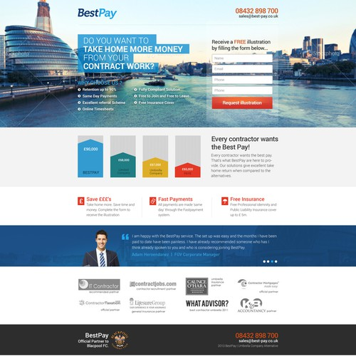 Best Pay needs a new landing page