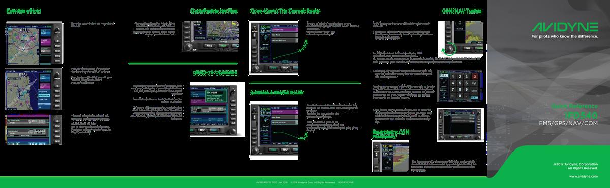 Avidyne Quick Start Guide