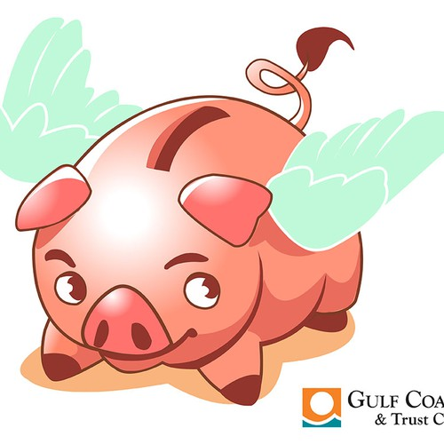 Flying pig character