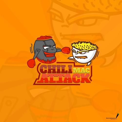 Chili Mac Attack logo design