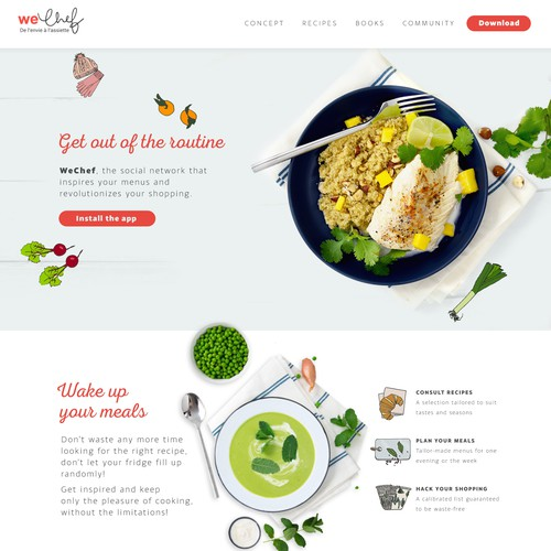 Website for WeChef