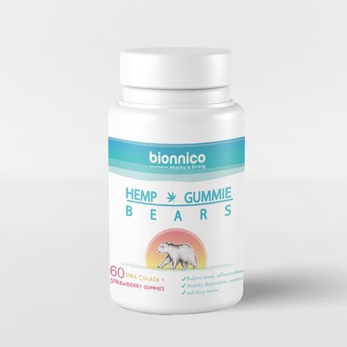 Hemp Gummie Bears label