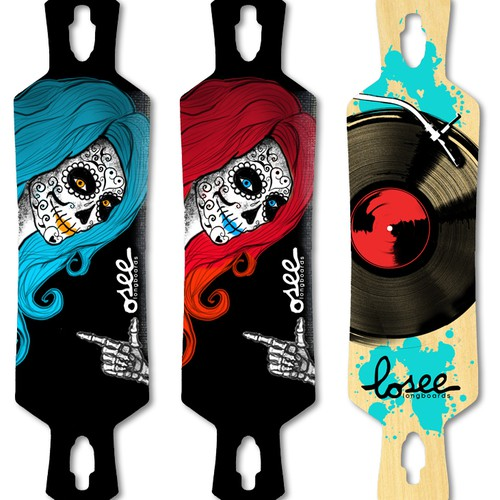 Graphics for Losee Longboards
