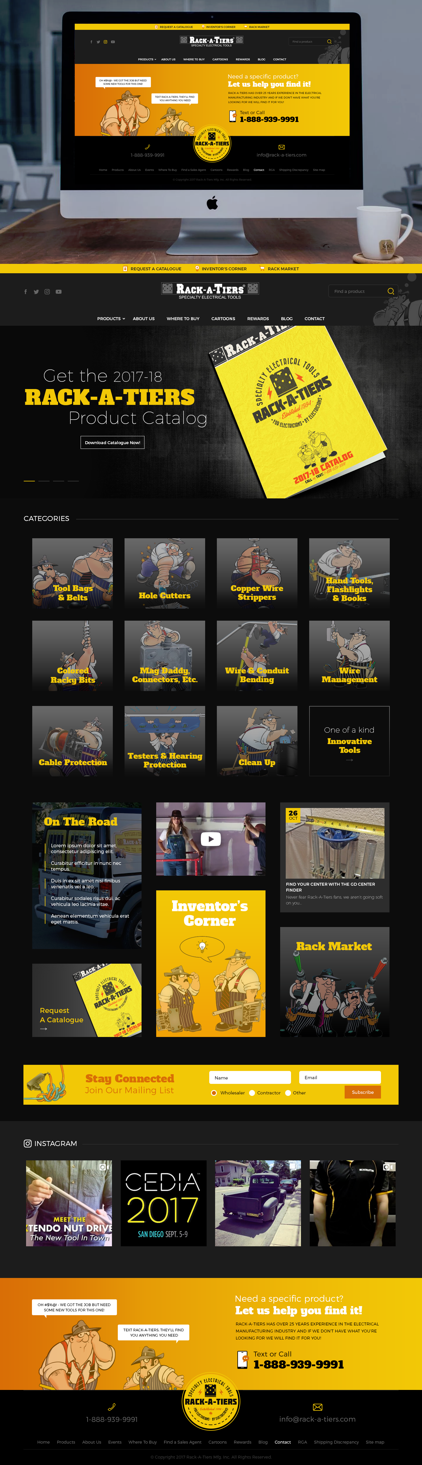 Create a Wordpress Theme for Rack-A-Tiers Mfg.