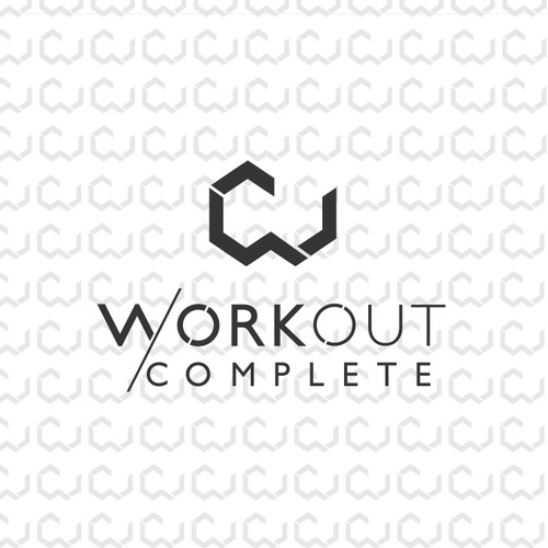 Fitness geometric monogram