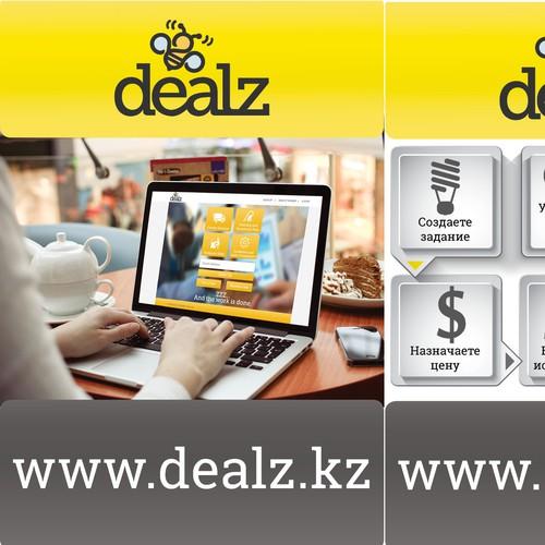 Internet start-up flyer design