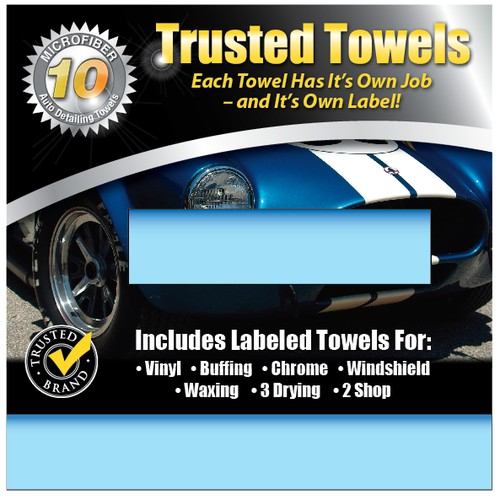 Auto Detailing Towel Packaging Design