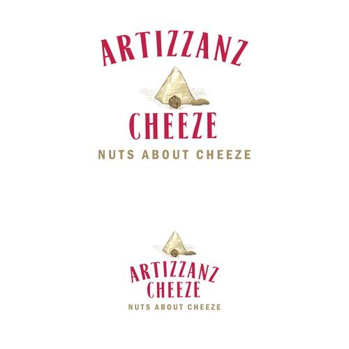 Hand-drawn logo proposal for Artizzanz Cheeze