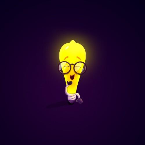 Character mascot concept for Edison Light Bulb