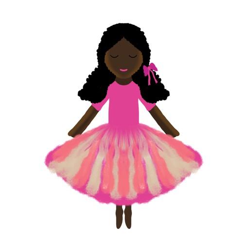 plush ballete doll